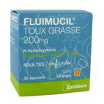 FLUIMUCIL EXPECTORANT ACETYLCYSTEINE 200 mg SANS SUCRE, granulés pour solution buvable en sachet édulcorés à l'aspartam et au sorbitol à Pessac