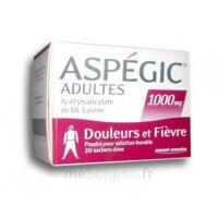 ASPEGIC ADULTES 1000 mg, poudre pour solution buvable en sachet-dose 20 à Pessac