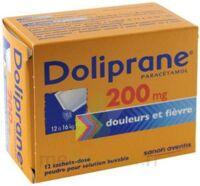 DOLIPRANE 200 mg Poudre pour solution buvable en sachet-dose B/12 à Pessac
