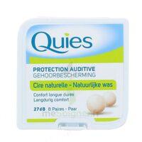 QUIES PROTECTION AUDITIVE CIRE NATURELLE 8 PAIRES à Pessac