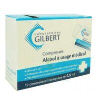 ALCOOL A USAGE MEDICAL GILBERT 2,5 ml, compresse imprégnée à Pessac