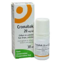 CROMABAK 20 mg/ml, collyre en solution à Pessac